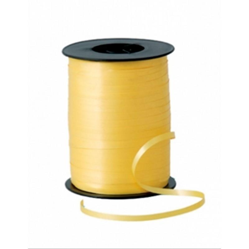 Gelbes Geschenkband auf Spule 5mmx450m