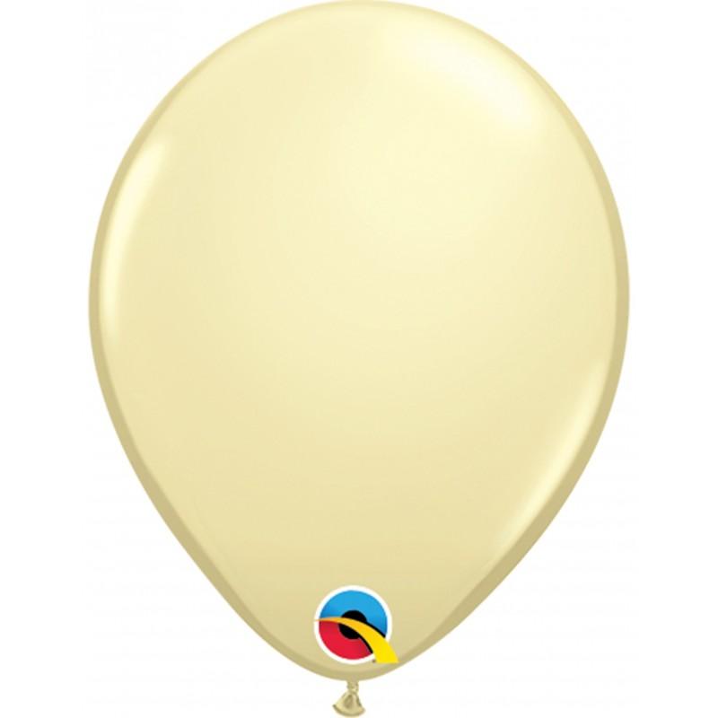 100x Latexballon elfenbein 13 cm