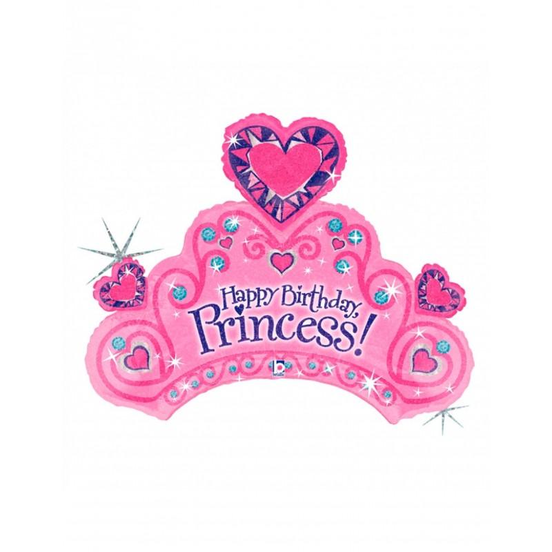 Formballon Prinzessinnenkrone pink 86 cm