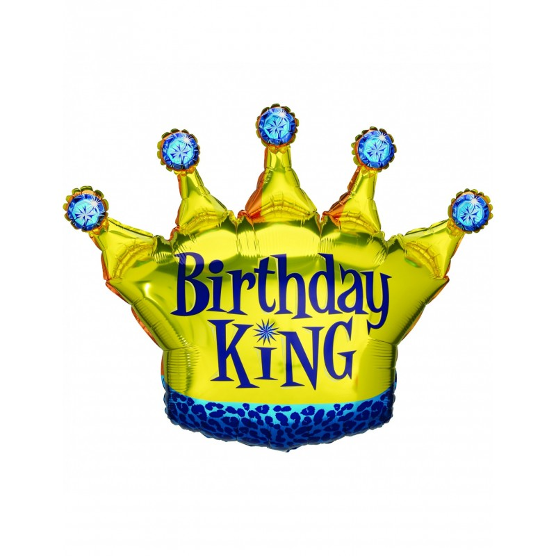 FORM BALLOON CROWN BIRTHDAY KING 90CM