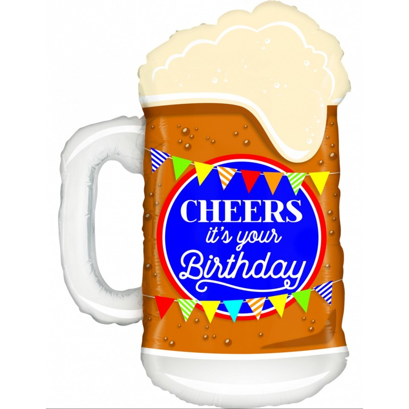 FORM BALLOON BEER GLASS CHEERS 86CM