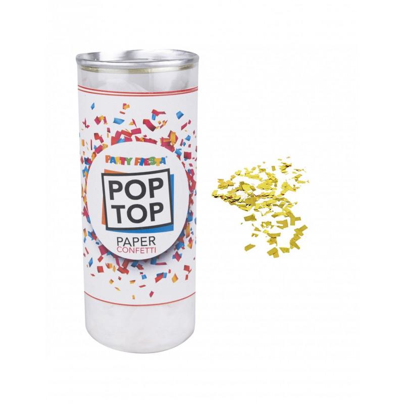 POP TOP GOLD METALLIC CONFETI 13CM