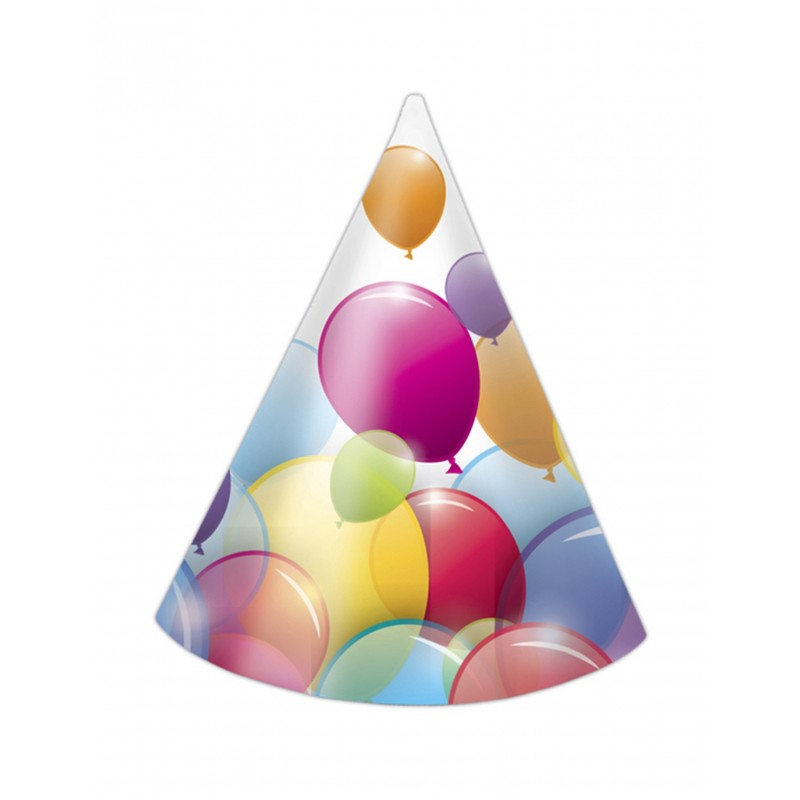 6x Hüte Luftballons