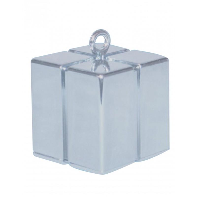 Luftballongewicht Geschenkbox Silber