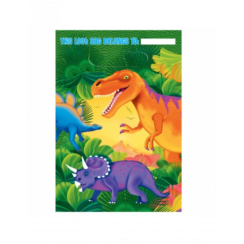 8x Tüten Dinosaurier