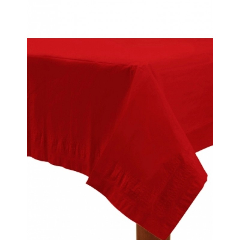 RED PAPER TABLECOVER 137X274CM