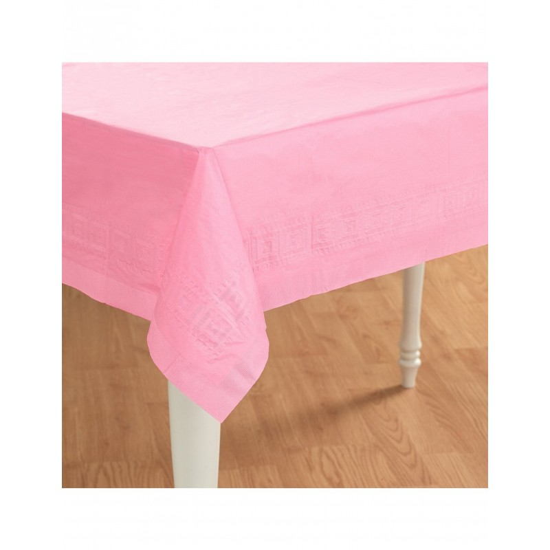 PINK PAPER TABLECOVER 137X274CM