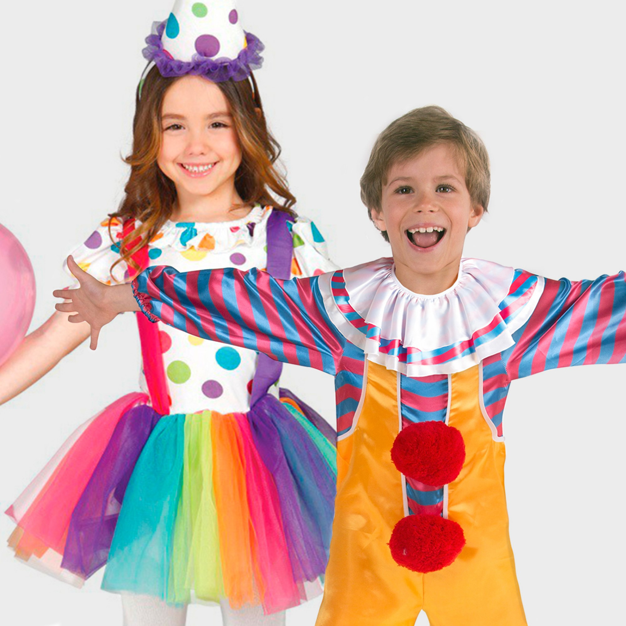Clowns and funny costumes