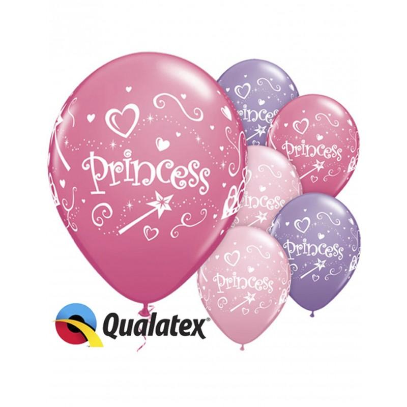 6 PRINCESS PINK BALLOONS