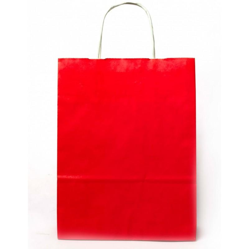 RED PAPER BAG 21X9X29CM