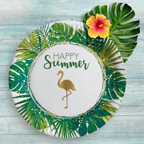 Happy Summer Flamingo