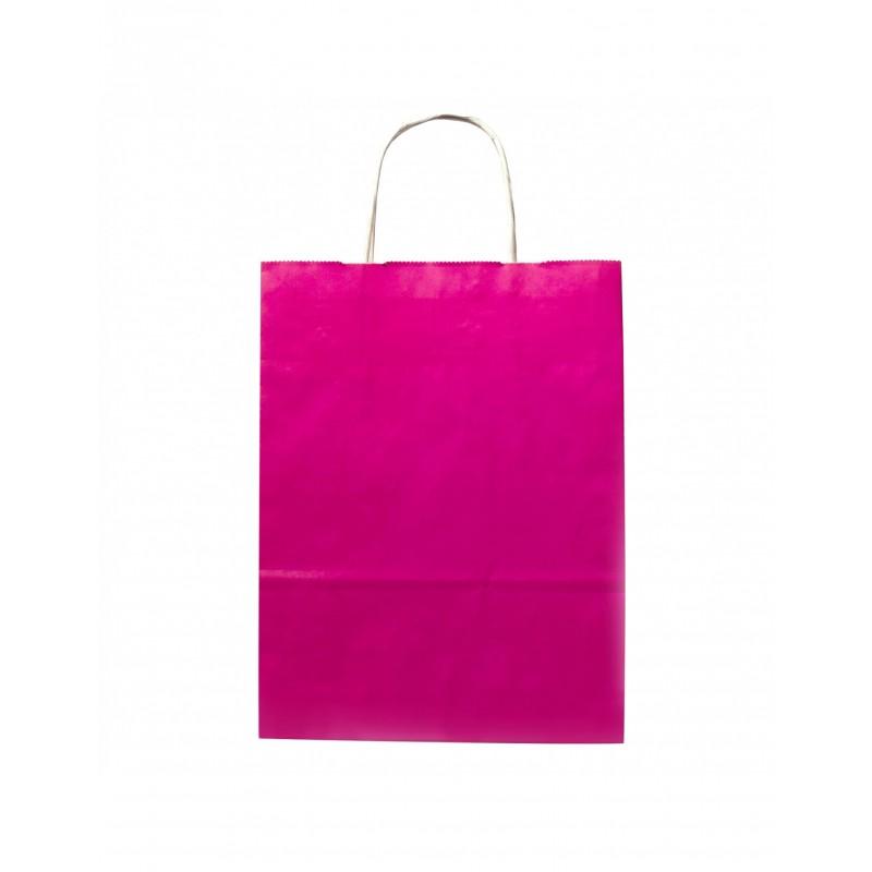 FUCSHIA PAPER BAG 21X9X29CM